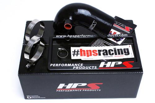 HPS Performance Black Reinforced Silicone Post MAF Air Intake Hose Kit for Mazda 06-08 MX-5 Miata NC1