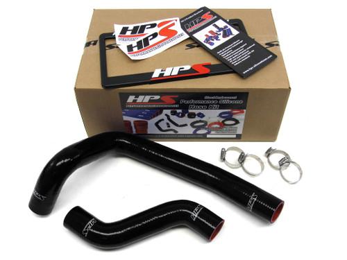 HPS Performance Black Reinforced Silicone Radiator Hose Kit Coolant for Mazda 93-97 RX7 FD3S