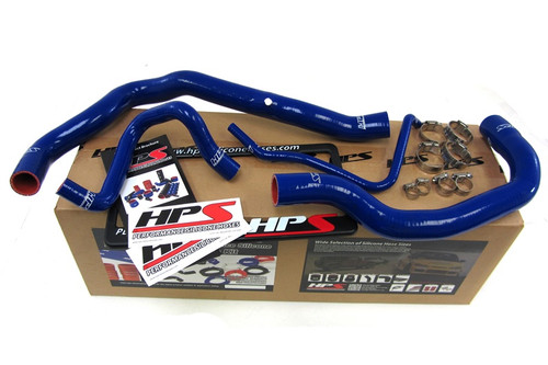HPS Performance Blue Reinforced Silicone Radiator Hose Kit Coolant for Mini 02-08 Cooper S Supercharged