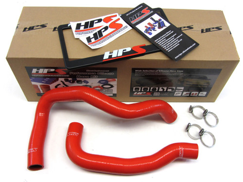 HPS Performance Red Reinforced Silicone Radiator Hose Kit Coolant for Nissan 89-98 240SX w/ KA