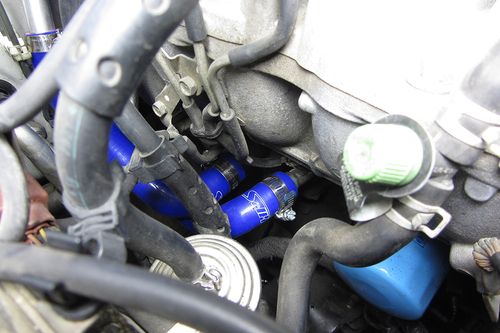 HPS Performance Blue Reinforced Silicone Heater Hose Kit for Nissan 95-98 240SX S14 KA24DE
