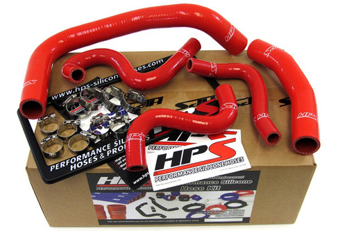 HPS Performance Red Reinforced Silicone Radiator + Heater Hose Kit for Toyota 85-87 Corolla AE86 4A-GEU Left Hand Drive
