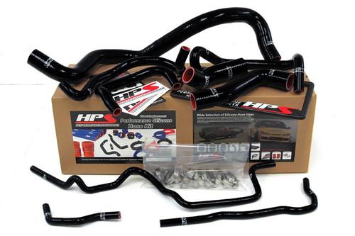 HPS Performance Black Reinforced Silicone Radiator Hose Kit Coolant for Volkswagen 99-06 Golf Mk4 1.8T Turbo Left Hand Drive