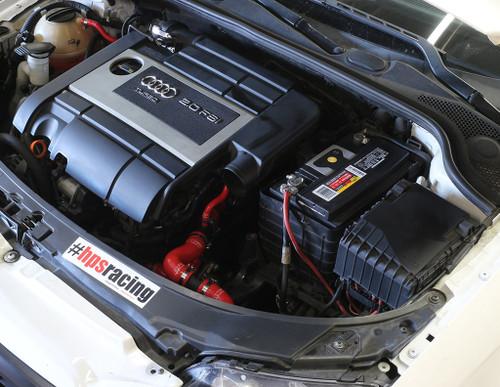 HPS Performance Reinforced Black Silicone Radiator + Heater Hose Kit Coolant for Volkswagen 06-08 GTI 2.0T Turbo FSI Left Hand Drive