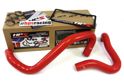 HPS Performance Red Reinforced Silicone Radiator Hose Kit Coolant for Ford 01-03 F250 Superduty w/ 7.3L Diesel Single or Dual Alternator