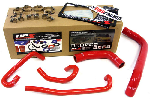 HPS Performance Red Reinforced Silicone Radiator + Heater Hose Kit for Toyota 04-06 Tundra 4.7L V8 Left Hand Drive