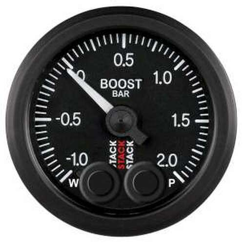 Stack 52mm Pro-Control Gauge - Boost Pressure