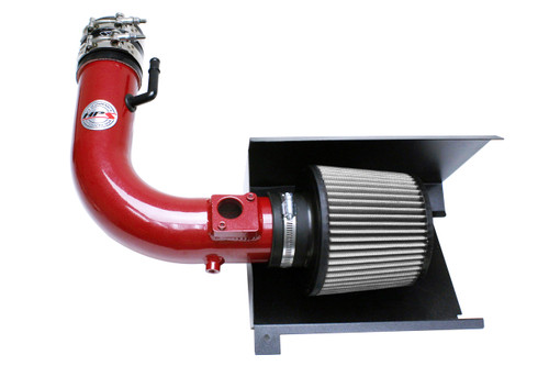 HPS Red Shortram Air Intake + Heat Shield for 12-17 Subaru BRZ