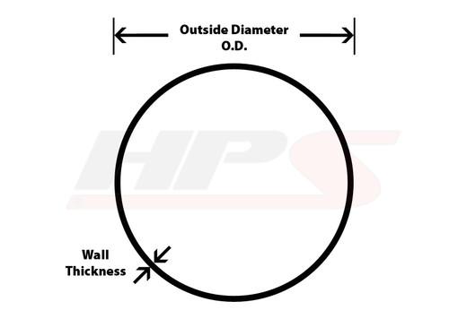 "HPS Performance 2.25"" OD 6061 Aluminum Straight Pipe Tubing 16 Gauge x 3 Feet Long"