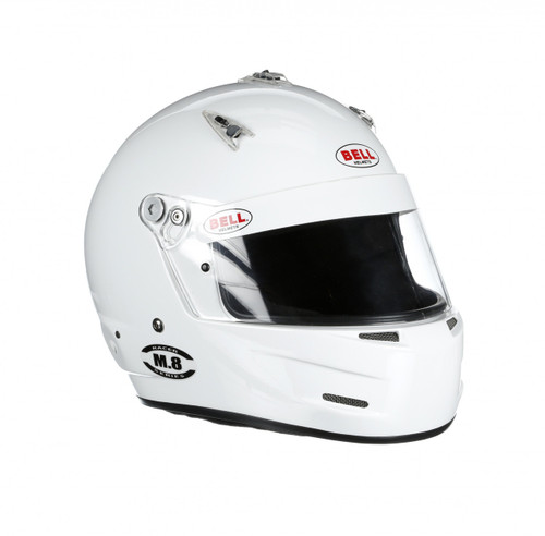 Bell M8 Racing Helmet White 2x Extra Large