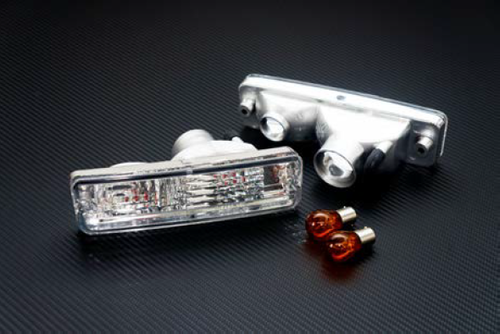 Circuit Sports - Euro Clear Turn Signals for Nissan 240SX 180SX S13 JDM / Euro