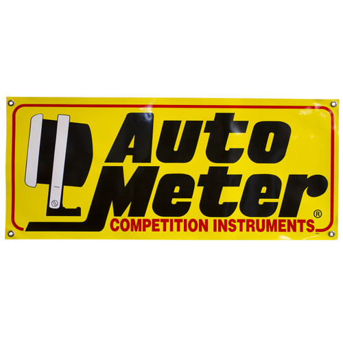 AutoMeter Banner Race - Small (3Ft.) Yellow 'Competition Instruments'