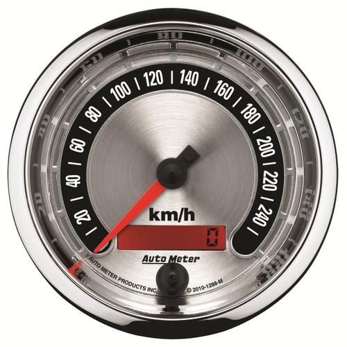"AutoMeter Gauge Speedo. 3 3/8"" 260Km/H Elec. Programmable American Muscle"