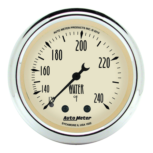 "AutoMeter Gauge Water Temp 2 1/16"" 120-240ºf Mech Antique Beige"