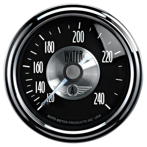 "AutoMeter Gauge Water Temp 2 1/16"" 240ºf Mech Prestige Blk. Diamond"