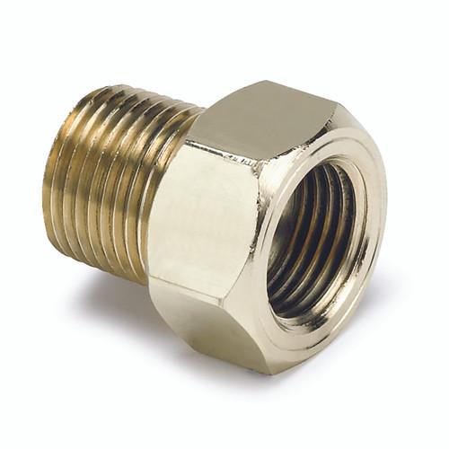 "AutoMeter Fitting Adapter 3/8"" npt Male Brass For Mech. Temp. Gauge"