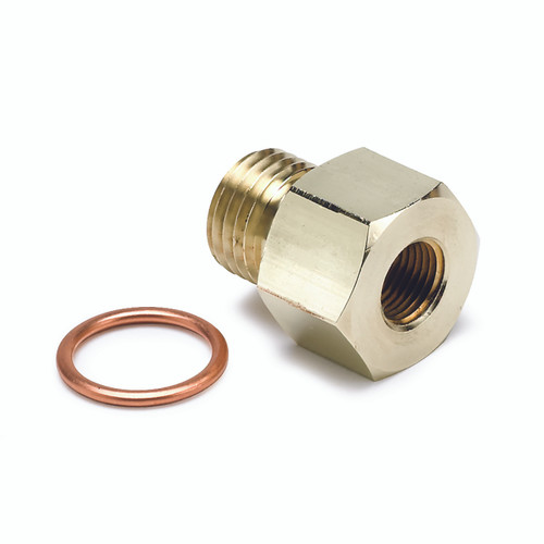 """AutoMeter Fitting Adapter Metric M14X1.5 Male To 1/8"""" nptf Female Brass"""