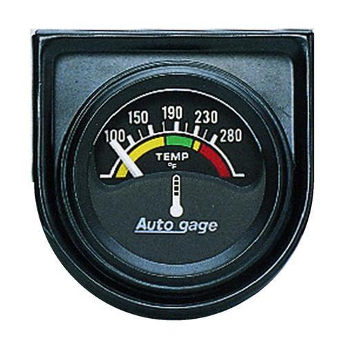 """AutoMeter Gauge Console Water Temp 1.5"""" 280ºf Elec Blk Dial Blk Bezel Autogage"""