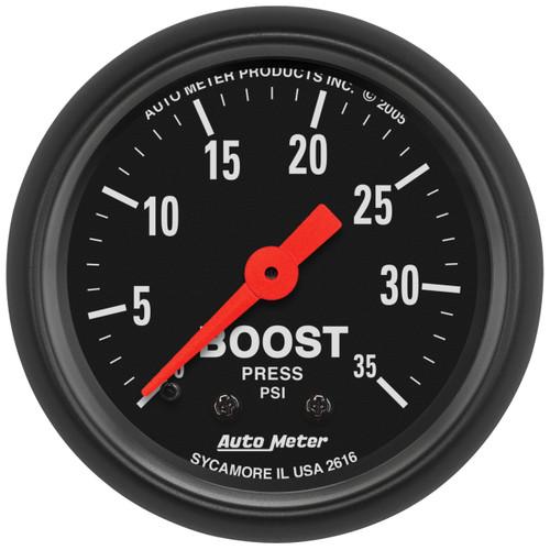 "AutoMeter Gauge Boost 2 1/16"" 35Psi Mechanical Z-Series"