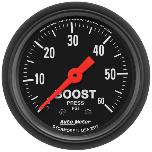 "AutoMeter Gauge Boost 2 1/16"" 60Psi Mechanical Z-Series"