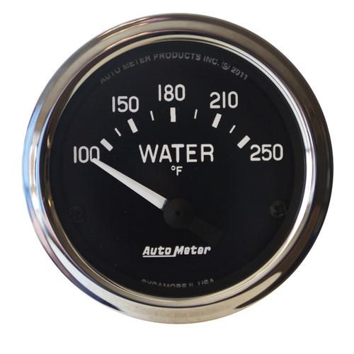 """AutoMeter Gauge Water Temp 2 1/16"""" 100-250ºf Electric Cobra"""