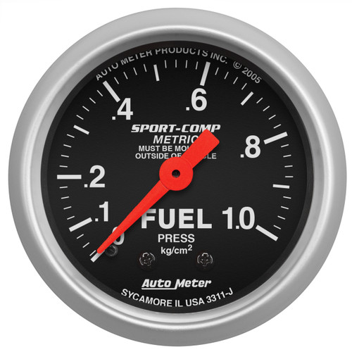 "AutoMeter Gauge Fuel Pressure 2 1/16"" 1.0Kg/Cm2 Mechanical Sport-Comp"