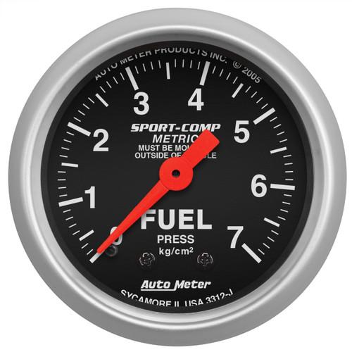 "AutoMeter Gauge Fuel Pressure 2 1/16"" 7.0Kg/Cm2 Mechanical Sport-Comp"