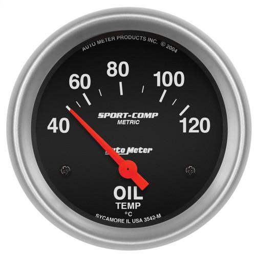 """AutoMeter Gauge Oil Temp 2 5/8"""" 40-120ºf Electric Sport-Comp"""