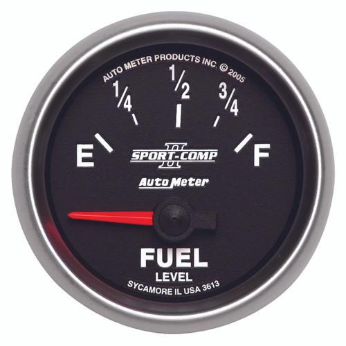 """AutoMeter Gauge Fuel Level 2 1/16"""" 0Ωe To 90Ωf Elec Sport-Comp Ii"""