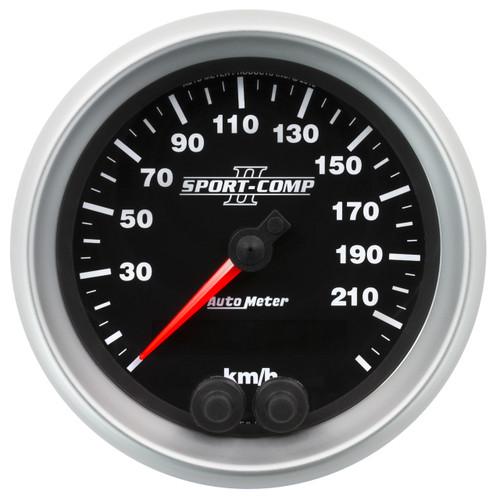 """AutoMeter Gauge Speedometer 3 3/8"""" 225Km/H Gps Sport-Comp Ii"""