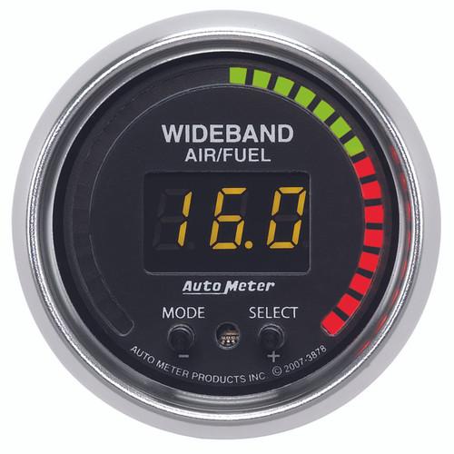 """AutoMeter Gauge Air/Fuel Ratio-Pro 2 1/16"""" 10:1-20:1 Digital W/ Peak & Warn Gs"""