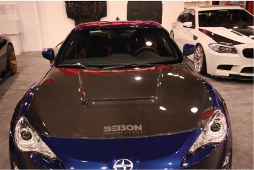 Seibon VS-Style Carbon Fiber Hood - Scion FR-S / Subaru BRZ