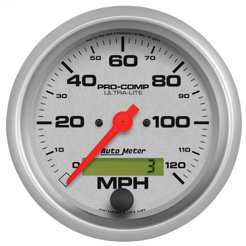 """AutoMeter Gauge Speedo 3 3/8"""" 120Mph Elec. Program W/ Lcd Odo Ultra-Lite"""