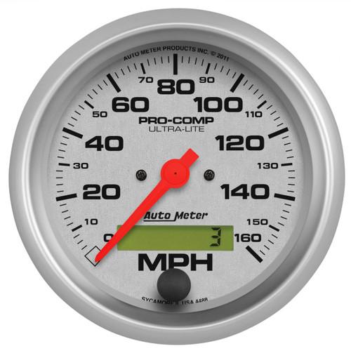 """AutoMeter Gauge Speedo 3 3/8"""" 160Mph Elec. Program W/ Lcd Odo Ultra-Lite"""