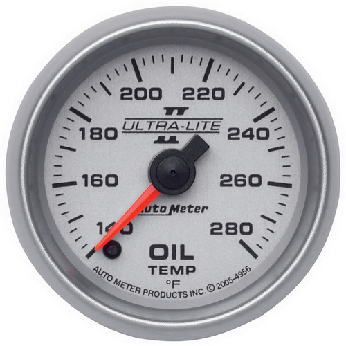 """AutoMeter Gauge Oil Temp 2 1/16"""" 140-280ºf Digital Stepper Motor Ultra-Lite Ii"""