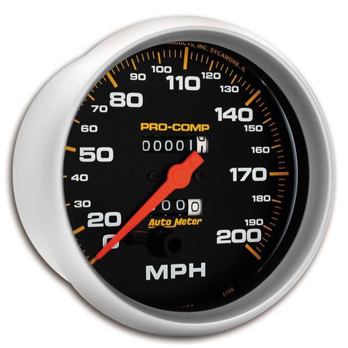 "AutoMeter Gauge Speedometer 5"" 200Mph Mechanical Pro-Comp"