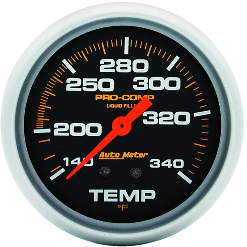 "AutoMeter Gauge Temperature 2 5/8"" 140-280ºf Liquid Filled Mech 8Ft. Pro-Comp"