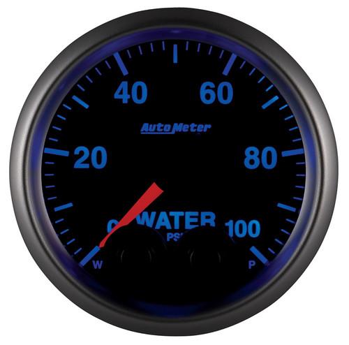 "AutoMeter Gauge Waterp 2 1/16"" 100Psi Stepper Motor W/Peak & Warn Elite W/O Sensor"