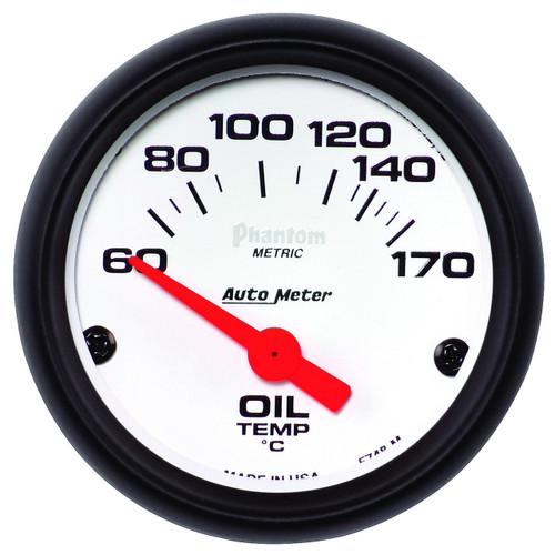 "AutoMeter Gauge Oil Temp 2 1/16"" 60-170ºf Electric Phantom"