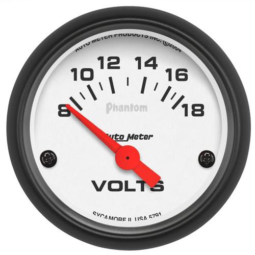 """AutoMeter Gauge Voltmeter 2 1/16"""" 18V Elec Phantom"""