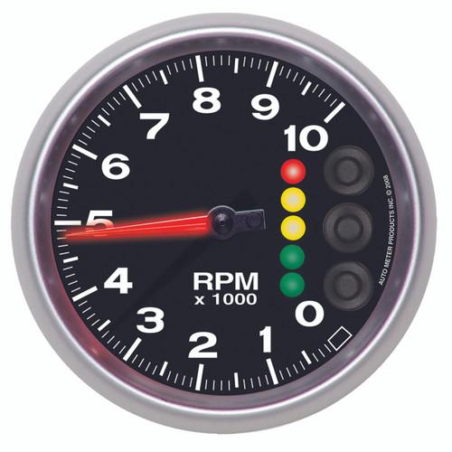 "AutoMeter Gauge Tach 5"" 10K Rpm W/Pit Road Speed Lights & Peak Mem Elite"