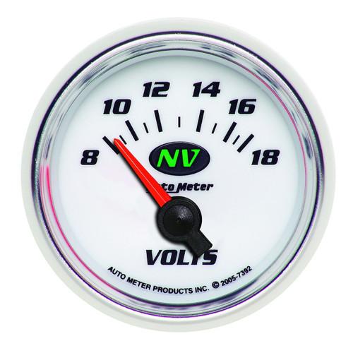 """AutoMeter Gauge Voltmeter 2 1/16"""" 18V Electric Nv"""