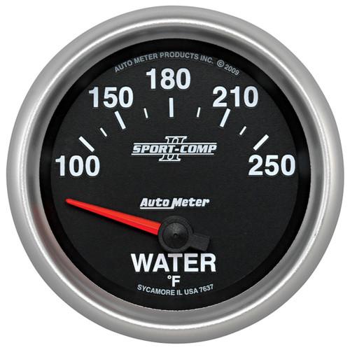 "AutoMeter Gauge Water Temp 2 5/8"" 100-250ºf Electric Sport-Comp Ii"