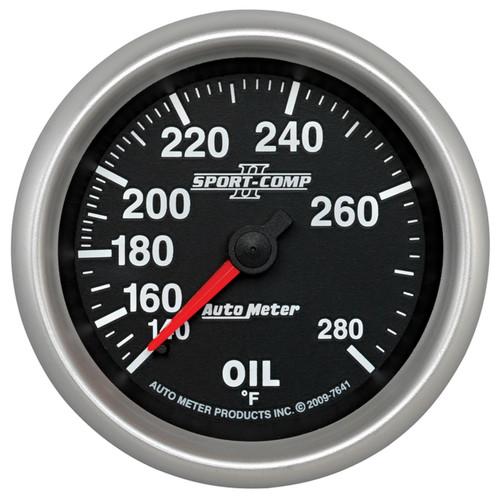 """AutoMeter Gauge Oil Temp 2 5/8"""" 140-280ºf Mechanical Sport-Comp Ii"""