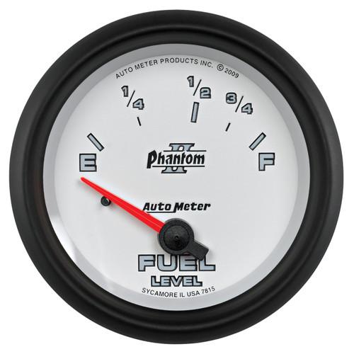 """AutoMeter Gauge Fuel Level 2 5/8"""" 73Ωe To 10Ωf Elec Phantom Ii"""