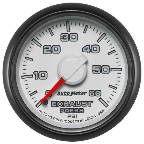 """AutoMeter Gauge Exhaust Press. 2 1/16"""" 60Psi Mechanical Ram Gen 3 Factory Match"""