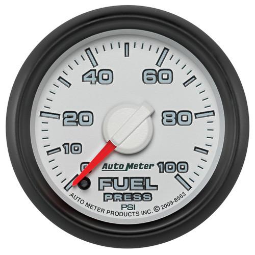 """AutoMeter Gauge Fuel Press 2 1/16"""" 100Psi Digital Stepper Motor Ram Gen 3 Fact. Match"""