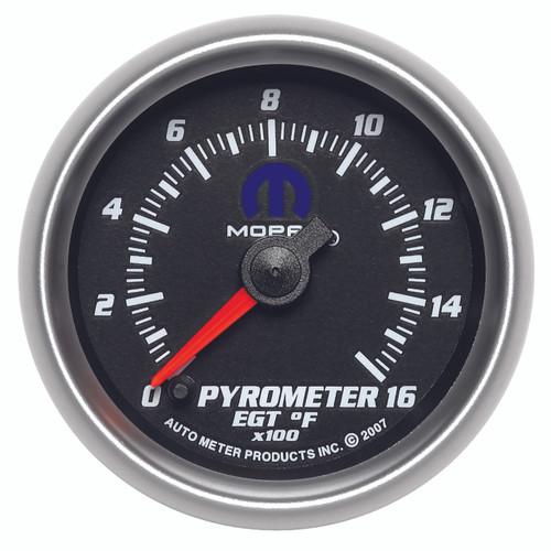 """AutoMeter Gauge Pyrometer (EGT) 2 1/16"""" 1600ºf Digital Stepper Motor Black Mopar"""