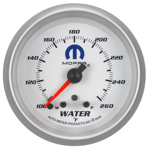 """AutoMeter Gauge Water Temp 2 5/8"""" 260ºf Stepper Motor W/ Peak & Warn White Mopar"""