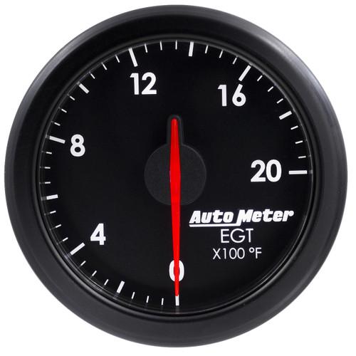"AutoMeter 2-1/16"" E.G.T 0-2000`F Airdrive Black"